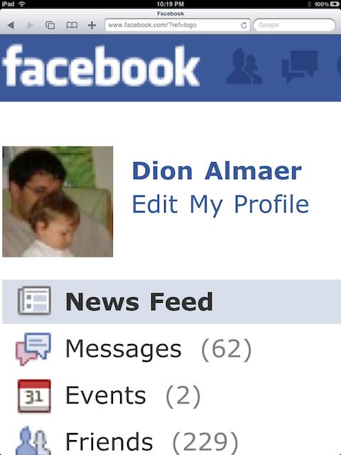 Facebook page as a vector example