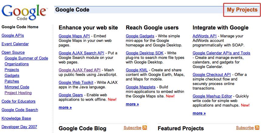 Greasemonkey: Google Code Home