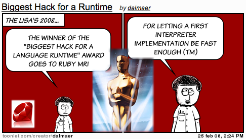 Lisa Awards: Biggest Hack for a Language Runtime