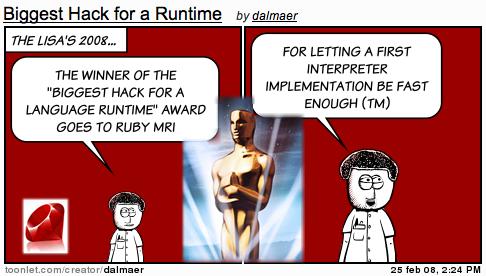 Lisa Awards: Biggest Hack for a Language Runtime