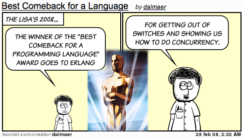 Lisa Awards: Best Comeback for a Programming Language