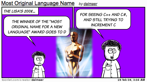 Lisa Awards: Most Original Name for a New Language