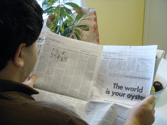 Reading News in 2000 and before