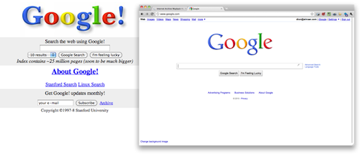 Google - old and new