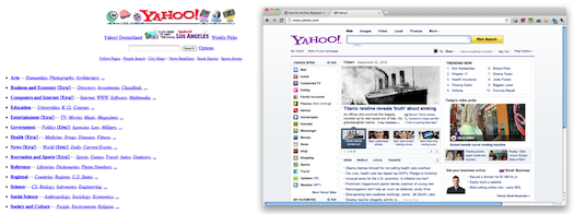 Yahoo! - old and new