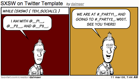 SXSW Twitter Template