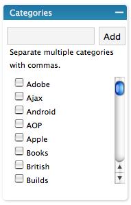 Wordpress Categories Old